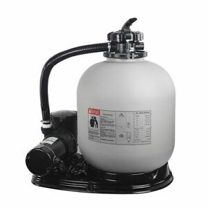 """Above Ground Swimming Pool Sand Filter System with Pump 4500GPH 19"""" 1HPse"""