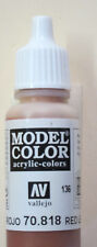 Vallejo Model Color Paint: 17ml  Red Leather 70818 (M136)