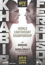 UFC 249 Poster - Khabib vs Ferguson (Canceled Event) - 11x17 13x19