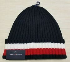 MENS TOMMY HILFIGER  NAVY / RED / WHITE BEANIE HAT ONE-SIZE NEW