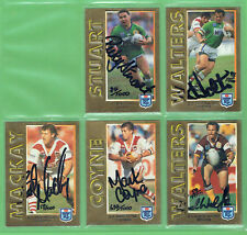 #T74. 1994 SERIES 1 EMBOSSED GOLD FOIL SIGNATURE  RUGBY LEAGUE CARD SET