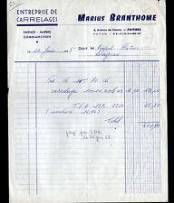 """POITIERS (86) Ets de CARRELAGES FAIENCE MARBRE COMBLANCHIEN """"Marius BRANTHOME"""""""