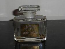 """Vintage Joy De Jean Patou Large Empty Bottle with Glass Stopper 3"""" H X 3"""" W"""
