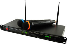 New Pyle PDWM2800 Professional UHF Wireless Microphone System With 2 Microphones