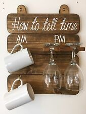 Tell The Time Board Am Pm Wine Glasses And Mugs