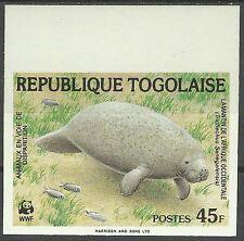 Togo Faune Lamantin African Manatee Seekuh Manati Non Dentele Imperf ** 1984 Wwf