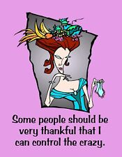 METAL FRIDGE MAGNET Some People Thankful I Control The Crazy Friend Family Humor