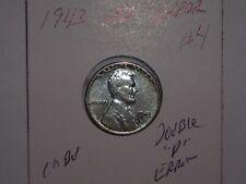wheat penny 1943-D D/D LINCOLN CENT DOUBLE ''D'' & 43 ERROR CH BU 1943D UNC LOT4
