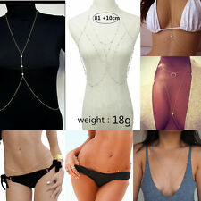 Beach Bikini Crossover Harness Waist Belt Belly Chain Sexy Body Necklace Jewelry