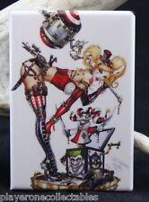 "Harley Quinn Jack in the Box 2"" X 3"" Fridge Magnet. Pinup Girl Suicide Squad"