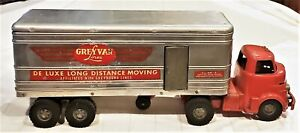 Genuine 1950s Vintage Wyandotte Tractor Trailer 18-Wheeler Gray Van Lines