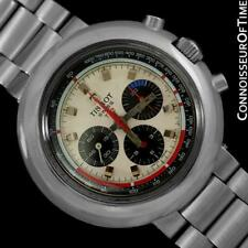 1970's TISSOT T12 Classic Mens Large Divers SS Chronograph - Fine with Warranty