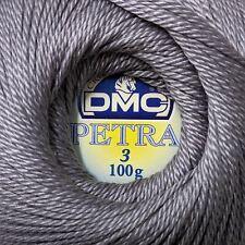 DMC Petra Yarn Size 3 100 Cotton Dark Grey 9x9x8 Cm