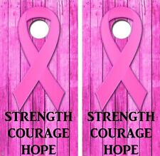 Strength Courage Hope Fight Cancer Cornhole Board Skin Wrap FREE SQUEEGEE