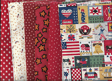 PATRIOTICS GROUP,QUILTSHOP FABRIC SIX FAT QUARTERS