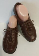 CLARKS 'VIOLA' Brown Leather Lace-Up Oxford Shoes #84706 Women's Size 10M