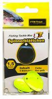 FTM Trout Spinnerblättchen Spinnerblätter Spinnerblatt fluo gelb  4905061