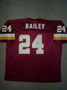 IRREGULAR Washington Redskins CHAMP BAILEY nfl Jersey Adult MENS/MEN'S (XXL-2XL)