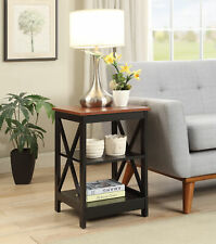 Accent End Table Open Shelf Display Storage Sofa Bed Side Living Room Furniture