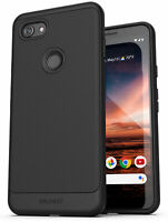 Google Pixel 3a Case (Thin Armor) Slim Fit Flexible Grip Phone Cover - Black