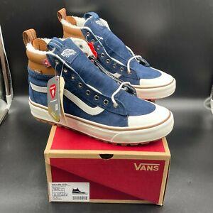 Vans SK8 Hi 2.0 DX Navy Brown Shoes, Men's Size 10 Sneakers