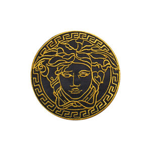 Medusa Black 8 CM Embroidered Iron on Sew on PatchBadge For Clothes