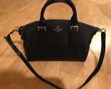 Kate Spade Large Black Leather Crossbody Handbag - Only used once