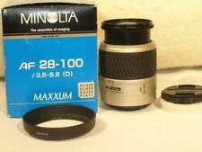 Mint Spotless w/Box Minolta Maxxum AF 28-100mm F3.5-5.6D Macro Sony A-Mount Lens