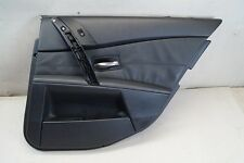BMW 5 Series M5 E60 M-SPORT DOOR CARD PANEL REAR RIGHT Leather Black