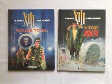 XIII ROUGE TOTAL 5 & LE DOSSIER JASON FLY 6 / LOT BD 1991 / VANCE & VAN HAMME
