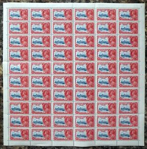 GILBERT & ELLICE ISLANDS 1935 Silver Jubilee 1½d SG36 Complete Sheet of 60 DH458