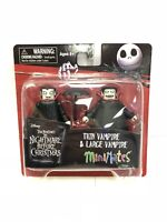 The Nightmare Before Christmas Thin and Large Vampire MiniMates Set Diamond 2017