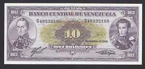 Venezuela 10 Bolivares 1988  UNC P. 62,  Banknotes, Uncirculated