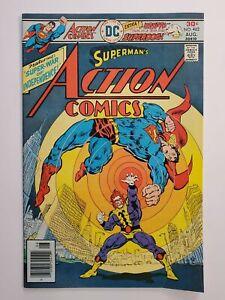 "ACTION COMICS #462 (FN) 1976 ""SUPER-WAR of INDEPENDENCE!"" SUPERMAN COVER & APP"