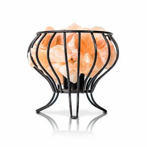 Salacia Himalayan Electric Feng Shui Basket Salt Lamp, Pink