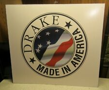 Drake Made In America Shortwave Cb Ham Radio Original Factory Sign Free Ship