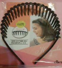 Comfy Soft plastic comb Hair Band  Headband soft comb teeth  New