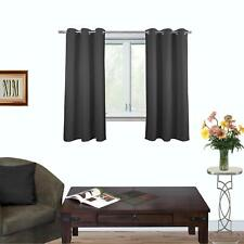 BLACKOUT Non Chemical Coating Thermal Insulated Eyelet Top Curtains 132cm (L)