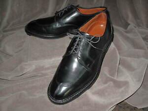 ALLEN EDMONDS Men's Ashton Split-Toe Derby Shoe 10.5 3E in Black Leather
