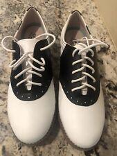 Eastland Women's Saddle Shoes Sadie Style 3331-13 Leather Size 9.5M White Black