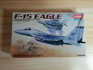 ACADEMY 12706 McDonnell Douglas F-15 EAGLE 1/100 Model Aircraft Kit with stand