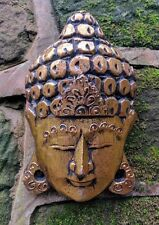 Gold Buddha Thai Buddha wall hanging hand painted carved wall mask 25cm