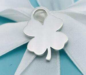 RARE Tiffany & Co. Silver Silver Four Leaf Clover Charm POUCH!