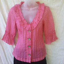 Kamiko Petite Size 8 Top Blouse Jacket 3/4 Slv Evening Occasion Party FREEPOST