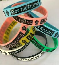 .99 Cent  BLACK  LIVES MATTER - STOP THE KILLING Silicone Wristbands COLOR GREEN