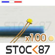 C144BC/100# lot de 100 LED 0402 CMS pré-câblées Blanc chaud  - warm white LED