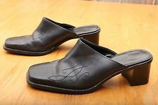 Bass Black Mule Clogs Women's Size 7.5 M