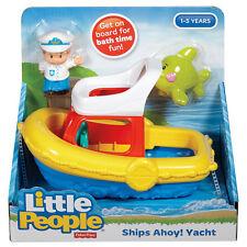 Fisher-Price Little People Ships Ahoy! Yacht Floaty Boat Bathtub Bathtime Toy
