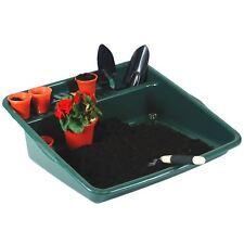Plastic Garden Potting Tidy Tray for Plant Seeding Soil Mixing DARK GREEN - UK