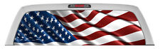 AMERICAN FLAG Rear Window Graphic perf Decal Tint print Sticker Truck